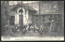 CPA Neuilly-sur-Seine, Institution De Mlle Julien, 39 Boulevard Du Chateau, La Volière - Neuilly Sur Seine