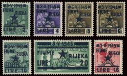 FIUME OCCUPAZIONE JUGOSLAVA 1945 SERIE COMPLETA (Sass. 14-20) MLH * - Jugoslawische Bes.: Fiume