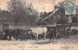 C P A 27] Eure  Bernay Attelage De Boeufs Carte Animée Normandie - Bernay