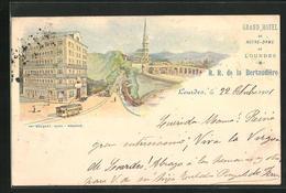Lithographie Lourdes, Grand Hotel De Notre-Dame - Lourdes