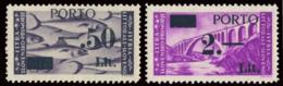 LITORALE SLOVENO OCCUPAZIONE JUGOSLAVA 1946 SERIE SEGNATASSE (Sass. 6-7) MNH ** - Occup. Iugoslava: Litorale Sloveno