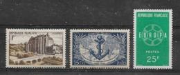 FRANCE - Yvert  N° 873-889-1218 ** - Neufs