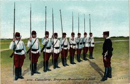 CPA MILITAIRE Cavalerie-Dragons. Manoeuvre A Pied (316416) - Manoeuvres