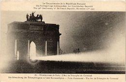 CPA MILITAIRE Illuminations De Paris-L'Arc De Triomphe Du Carrousel (316564) - Pension Du Docteur Eon, La