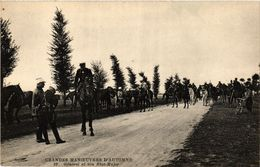 CPA MILITAIRE Grandes Manoeuvres D'Automne-General Et Son Etat-Major (316597) - Manoeuvres