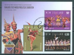 NEW ZEALAND - USED/OBLIT.  - 2003 - BANGKOK EXPO BALLET - Yv BLOC 175 -  Lot 20694 - Blocs-feuillets