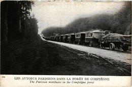 CPA MILITAIRE Les Autobus Parisiens Dans La Foret De Compiegne (317086) - Pension Du Docteur Eon, La