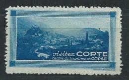 3204 - Vignette Touristique Visitez CORTE Centre De Tourisme En Corse - RARE - Tourisme (Vignettes)