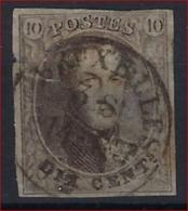 Medaillon 10 Cent Met Rondstempel BRUXELLES / BRUSSEL ; Verkeerd Gebruik  ; ZELDZAAM  ! - Belgium