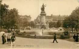 69 - LYON - LA PLACE CARNOT - CARTE PHOTO - Lyon