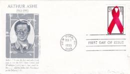 USA 1993 Cover: Tennis Artur Ashe; AIDS SIDA: Damaged Cover - Tennis