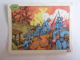 Militaire Militaria 1916 Tranchée Soldat Poilu Image Donnée école Bon Point ??? - Vieux Papiers