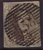 Medaillon 10 Cent Met MOOIE Stempel P158 Van ECAUSSINNES En 3 Randen (linkse Kader Geraakt) ; Zie Ook Scan ! - Belgium