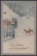 Ansichtskarte   Weihnachten        2 Fotos   Gebrauchsspuren - Postales