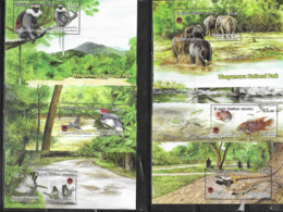 SRI LANKA, 2019, MNH, WASGAMUWA NATIONAL PARK, BIRDS, FISH, BUTTERFLIES, ELEPHANTS, REPTILES, MONKEYS, 6v+ 6 S/SHEETS - Pájaros