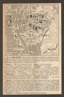 CARTE PLAN 1952 - BELFORT AUTO GARE HOTELS RESTAURANTS CASERNE VAUBAN LE POILU FILATURE - Cartes Topographiques