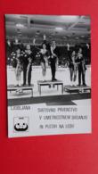 Ljubljana.2 Postcards.SVETOVNO PRVENSTVO V UMETNOSTNEM DRSANJU IN PLESIH NA LEDU.Figure Skating And Ice Dancing - Deportes De Invierno