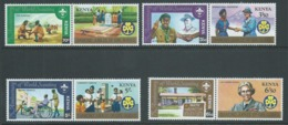 Kenya 1982 Scout & Guide Set Of 4 Joined Pairs MNH - Kenya (1963-...)