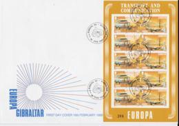 Gibraltar 1988 FDC Europa CEPT Complete Sheet (LAR8-2) - Europa-CEPT
