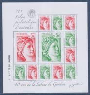 = 40 Ans De La Sabine De Gandon Bloc 12 Timbres Daté 11.10.17 Neuf F5179 Composé Avec N°5179 5180 5181 5182 - Blocs & Feuillets