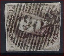 Medaillon 10 Cent Met ZELDZAME Distributiestempel  D90 HAMEAU En In Goede Staat Met Mooie Randen ; Zie Ook Scan ! - 1858-1862 Medallions (9/12)