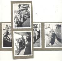 """Lot De 5 Photos ( +/- 6 X 9 Cm ) .OOSTENDE / OSTENDE 1935 - Bateau, La Malle """" Prince Baudouin """",... (b249) - Boats"""