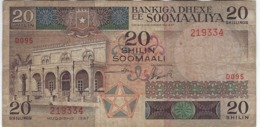 SOMALIA 20 SHILLINGS 1987 P-33c USED S/N 219334 [SO308c] - Somalia