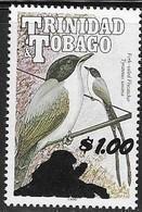 TRINIDAD AND TOBAGO, 2018(?), MNH, BIRDS,  FLYCATCHER, OVERPRINT, 1v , - Otros