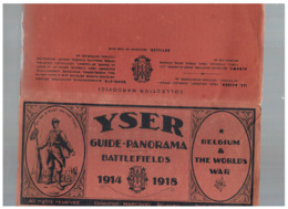 JM27.10 /  ANCIEN DEPLIANT YSER - GUIDE-PANORAMA 1914-1918 / 8 PLANCHES EN COULEUR / MARCOVICI - Documentos Históricos