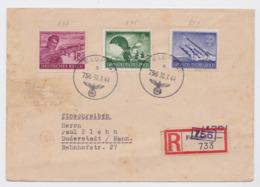 Deutsches Reich Feldpost Brief 30.7.44 Fusée Rocket Parachute Reichpost Duderstadt - Allemagne