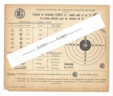 """Carton Publicitaire - Fabrique De Cartouches - SA Des Explosifs De HAVRE Lez MONS """"EH"""" . (b267) - Publicités"""