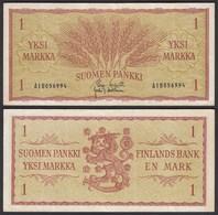FINNLAND - FINLAND 1 MARKKA 1963 PICK 98a VF (3)   (25442 - Finlandia