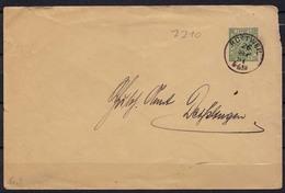 Rottweil Württemberg GS Nach Deisslingen 1891 (b337 - Postzegels