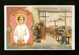 Image Pieuse Chromo: Saint Louis Gonzague. Chocolat Aiguebelle (117286) - Imágenes Religiosas