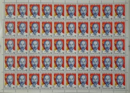 USSR Russia 1980 Sheet 90th Birth Ann Ho Chi Minh Vietnamese Leader Famous People Politician Flag Stamps Mi 4974 SG 5015 - Celebrations