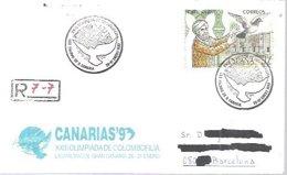MATASELLOS  1983   CERTIFICADO  LAS PALMAS DE GRAN CANARIA - 1931-Hoy: 2ª República - ... Juan Carlos I