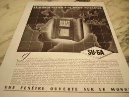 ANCIENNE PUBLICITE RADIO TSF ETABLISSEMENT SU GA 1935 - Music & Instruments