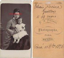 Brésil 1876-Famille GUITTON-CDV Rosine DA SILVA  Ep Paul GUITTON Et Sa Fille Thaïs Rosine-photo Fidanza  PARA- Brazil - Alte (vor 1900)