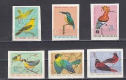 Vietnam  Nord 1966 - Birds, Mi-Nr. 456/61, Imperforated, MNH** - Vietnam