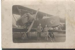 Carte Photo Pilote Et Mécanicien Du Centre D' Instruction Au Vol De Nuit - Circa 1925 - Guerra, Militari