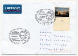 """ALLEMAGNE - 3 Enveloppes - Oblitérations Au Thème """"BEETHOVEN"""" Dont 1 Enveloppe Commémorative - Music"""