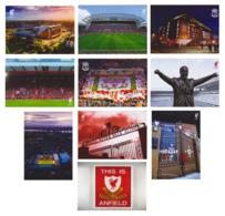 LIVERPOOL ANFIELD SET 10 CARTES STADE STADIUM ESTADIO STADION STADIO - Football