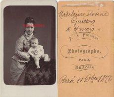 Brésil 1876-Famille GUITTON-CDV Rosine DA SILVA  Ep Paul GUITTON Et Sa Fille Madelein Rosine-photo Fidanza  PARA- Brazil - Alte (vor 1900)