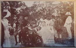 Elisabethville - MOTO - Soldat - Fête Donnée à L'occasion De La Rentrée Du 1er Régiment -2 Scans - Weltkrieg 1914-18