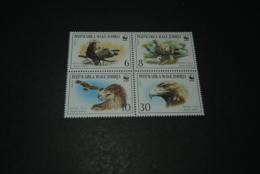 K23585 -set In Bloc MNH   WWF - Birds Of Prey - Eagles - W.W.F.