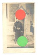 Photo Carte - Planton, Garde, Sentinelle,avec Arme  Armée Belge 191... (b267) - Kazerne