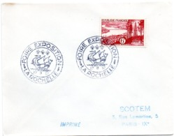 MARINE = 17 LA ROCHELLE 1957 = CACHET Illustré D'un Navire Ancien à Voile + 'FOIRE EXPOSITION' - Bateaux