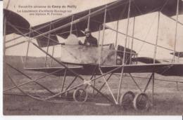 AEROPLANES ESCADRILLE CAMP DE MAILLY AVION BILPACE FARMAN TRES ANIMÉES CPA BON ÉTAT - Aviateurs