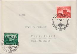 748-749 Eupen Und Malmedy Auf FDC Mit ESSt MALMEDY 25.7.1940 - Germania