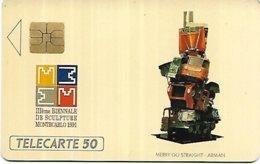 @+ Monaco - 3e Biennale De La Sculpture - Numerotée Au Verso 0628/1000 Ex - Ref: ME5A - Mónaco
